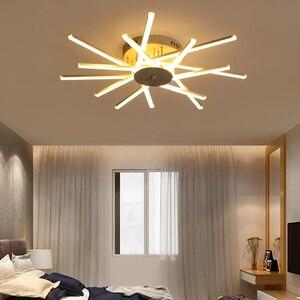 Image 5 - ใหม่มาถึงโคมไฟเพดานLedโมเดิร์นสำหรับห้องนั่งเล่นห้องนอนStudy Roomสีขาวสีอลูมิเนียมโคมไฟเพดานโคมไฟ