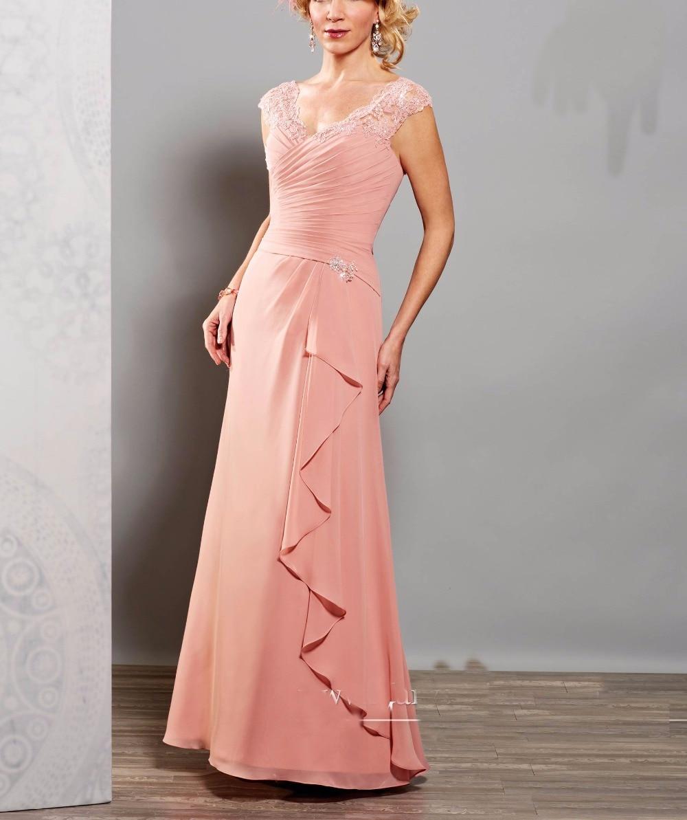 De Encaje de color rosa Madre De La Novia Vestidos de Madrina de ...