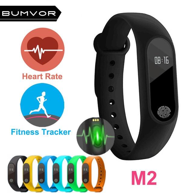 Professional Waterproof IP67 M2 Smart Wristband Fitness Heart Rate Monitor Blood