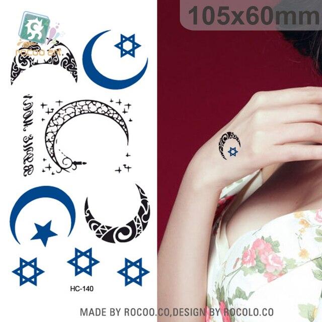 hc 140 Étanche temporaire autocollant de tatouage de nouvelle lune