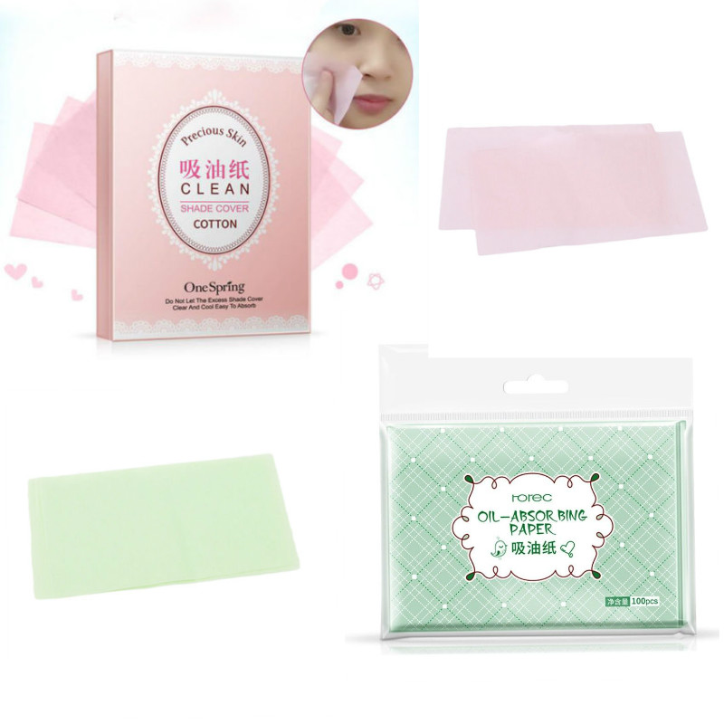 2pcs 100 Korea Facial carta velina Skin Oil Control paper Face Cleaner oil absorbing blotting sheets Tissue paper papier de soie image