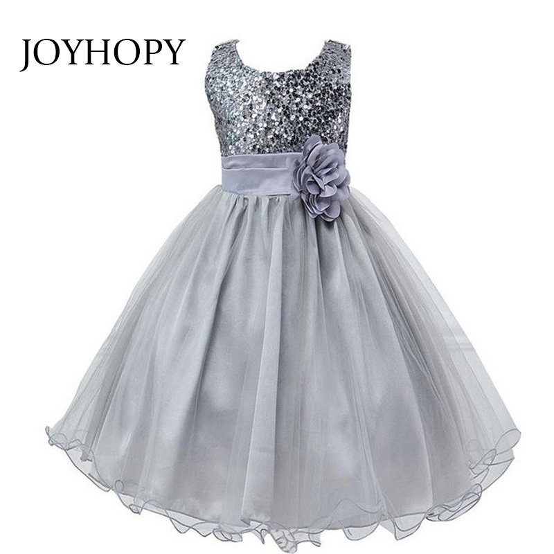 New Fashion Sequin Flower Girl Dress Party Birthday wedding princess Toddler baby Girls Clothes Children Kids Girl Dresses fashion 2016 new autumn girls dress cartoon kids dresses long sleeve princess girl clothes for 2 7y children party striped dress