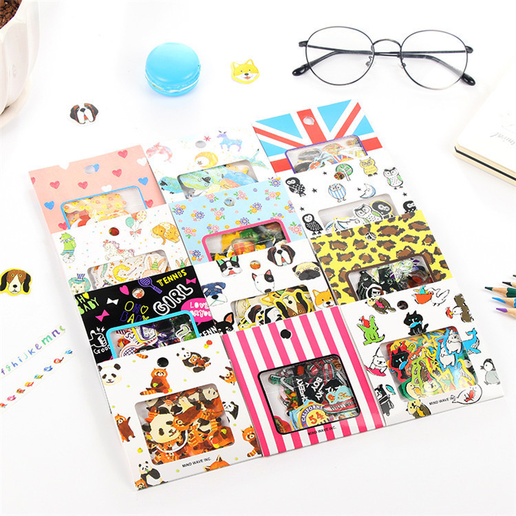 70 PCS/Pack New Cartoon Animal Expression Children Stationery Decorative Diary Label Pack Decorative Scrapbooking DIY Stickers