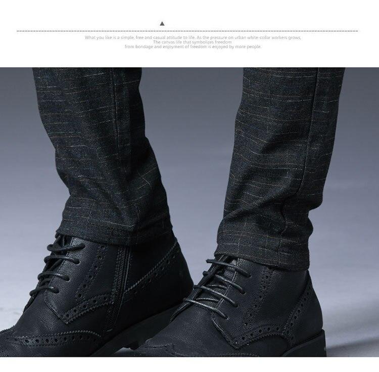 2019 New Design Upscale Casual Men Pants Cotton Slim Male Pant Straight Trousers Fashion Business Pants Men Plus Size 38