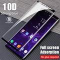 10D completa de la cubierta de vidrio templado Protector de pantalla para Samsung Galaxy S9 S8 S7 Edge protección para la nota 8 9 a9 A8 A6 Plus
