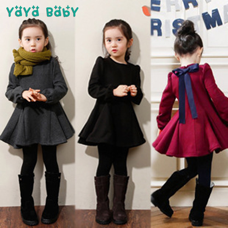 2 3 4 5 6 7 8 Years Girls Dress Thick Velvet Autumn Winter Kids Dresses for Girls Ruffles Long Sleeve Children Princess Clothing elitech 25