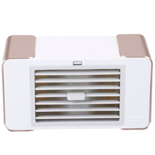 Usb Mini Fan Led Portable Air Conditioner Desktop Cooler Summer With Table Lamp