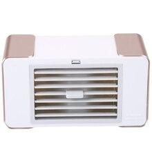 цены на Usb Mini Fan Led Portable Air Conditioner Desktop Air Cooler Fan Summer Cooler With Usb Table Lamp  в интернет-магазинах
