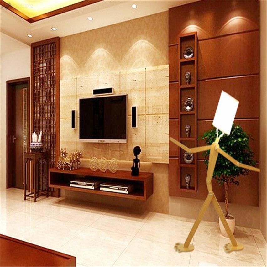 €68.04 21% de réduction|JW_New moderne lampadaire en bois moderne  minimaliste en bois plancher chambre salon chevet lampadaire réglable  lampe-in ...