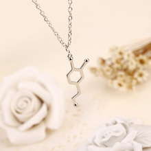 New Hexagon Chemical Molecular Structure Pendant Necklace Chemistry Molecule love chemical formula Polygon Geometry