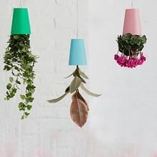 12pc/lot 4 Color Sky Planter Hanging Plastic Flower Pots For Indoor Plants Vertical Garden Decoration Hanging Basket Bonsai Pot