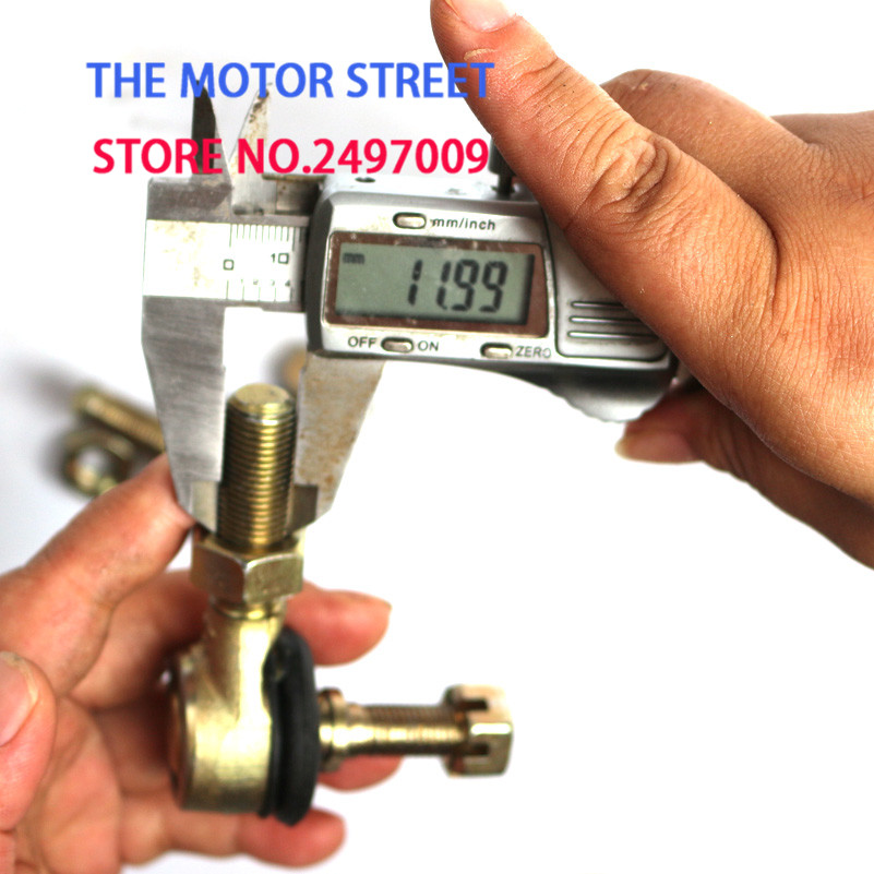 M10x12 металлический мотоцикл галстук шаровой шарнир с наконечником fit ATV Quad поворотное соединение шаровой стержень запасные части