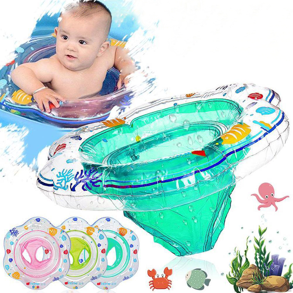 Baby Swimming Ring Inflatable Infant Floating Kids Float Swim Pool Accessories Circle Bath Inflatable Ring Seat Children Toy