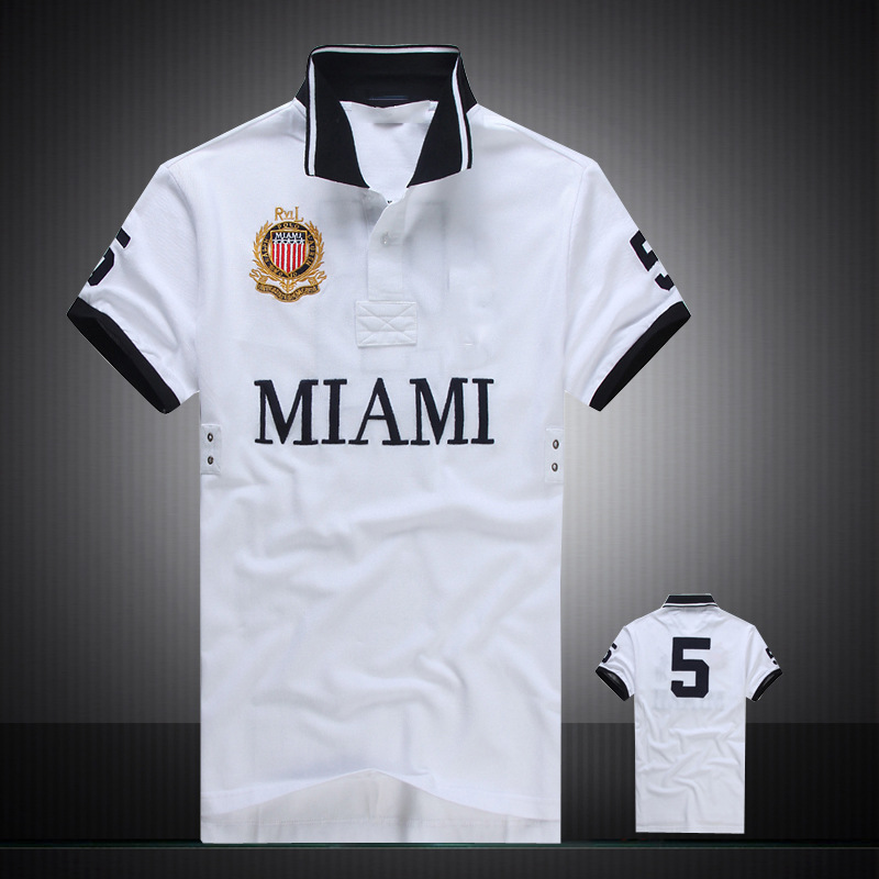 2019 Breathable Embroidery City Name MIAMI&PARIS&LONDON Men's   Polo   Shirt Regular Fit Men Shirt   Polo   Short Sleeve Eden Park Homme