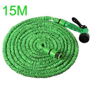 15-30M Expandable Magic Flexible Garden Water Hose Plastic Spray Gun Garden Car Yard Hose Pipe Outdoor Watering Spray Gun