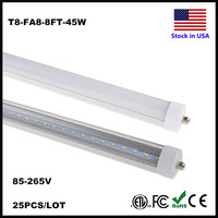 LED T8 8ft Tube Light Single Pin FA8 36W Tubes 8 Ft Feet Repalcement LED Fluorescent