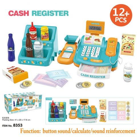 criancas brinquedos supermercado pos cash register com