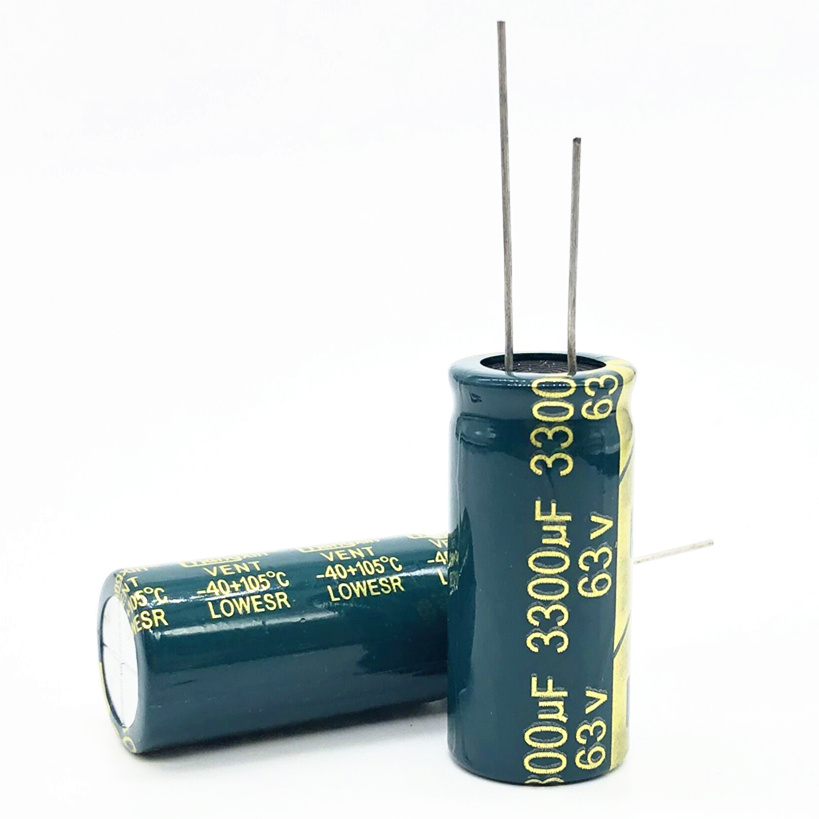 2pcs 63V 3300UF 18*40 High Frequency Low Impedance Aluminum Electrolytic Capacitor 3300uf 63V 20%
