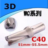 WC C40 3D SD 51 52 53 54 55mm U Boor Type Voor WC080412MT Insert U Boren Ondiepe Gat indexeerbare insert boren
