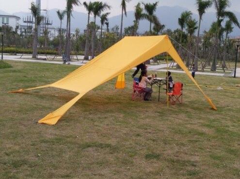 Facile à installer auvent tente abri plage tente 3-4 personnes écran solaire parc Pergola pique-nique auvent tente famille extérieure Cmaping bâche tente