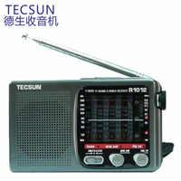 Gran oferta de alta calidad portátil Radio de Tecsun R-1012 FM/MW/SW/TV Radio multibanda banda mundial receptor de Radio 76-108MHz Y4378A