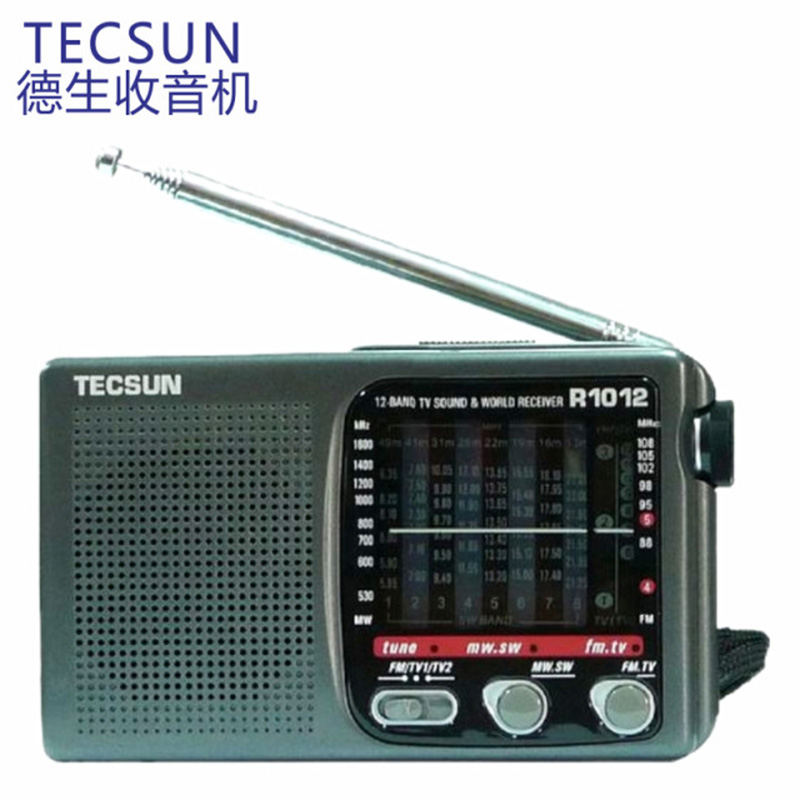 Hot Sale High Quality Portable Radio TECSUN R-1012 FM / MW / SW / TV Radio Multiband World band Radio Receiver 76-108MHz Y4378A