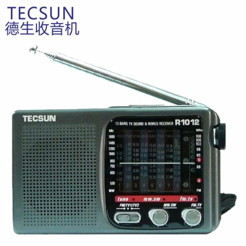 Hot Sale High Quality Portable Radio TECSUN R-1012 FM / MW / SW / TV Radio Multiband World band Radio Receiver 76-108MHz Y4378A