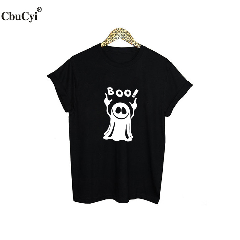 GHOST BOO T-shirt Funny Graphic Tees Womens Tshirt Punk Harajuku Street Hipster Women T Shirt Tumblr Hip Hop Clothing