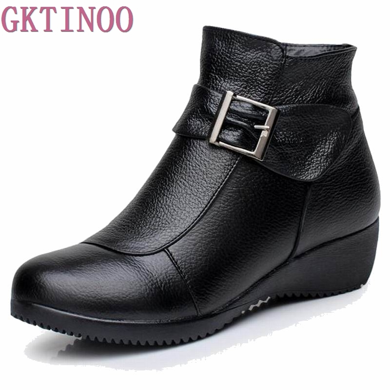b66cb5533 الشحن مجانا أزياء مريحة النساء جلد طبيعي أحذية الشتاء الدافئة أفخم الأحذية  عدم الانزلاق بيضاء تعمل الأحذية الأحذية قصيرة