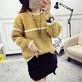 Пуловеры свитера 2016 осень женская основная длинными рукавами свитер верхняя одежда весенние и осенние одежды свободные теплый трикотажные топы