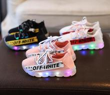 Brand New Children Shoes With Light Kids Boys Led Glowing Sneakers Baby Running shoes Fashion