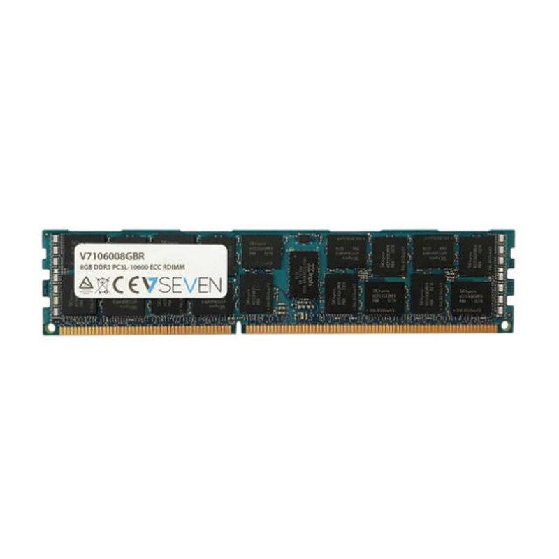 V7 8 GB DDR3 PC3-10600-1333 mhz serveur ECC REG serveur modulo de memoria-V7106008GBR, 8 GB, 1x8 GB, DDR3, 1333 MHz, 240-pin D