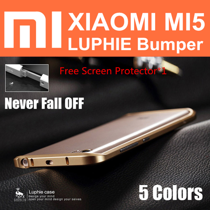 mi5 pro bumper case original LUPHIE aircraft aluminum metal frame for xiaomi mi5 prime pro case mi 5 hard cases QMK0224CN