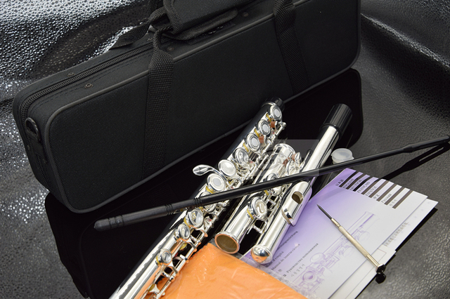 Top Flute 16 Hole with E Key  YF-271 Silver Plated Flute C Key White Copper Transversal Music