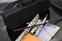 Top Japan Flute 16 Hole with E Key YF 271 Silver Plated Flute C Key White Copper Flauta Transversal Music Instrumentos