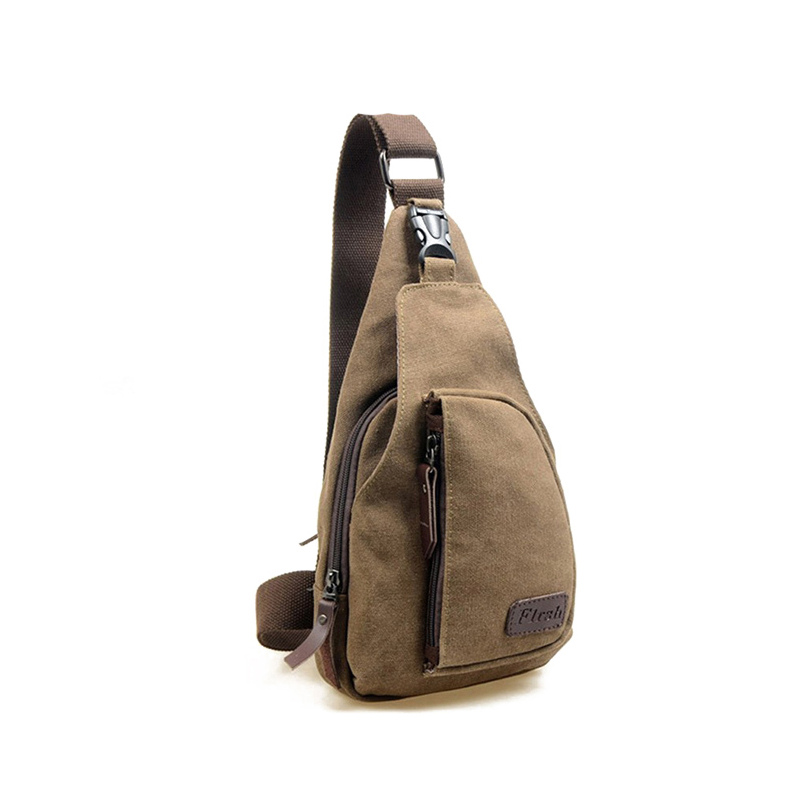 Hot 2019 Men Canvas High Quality Chest Bag Casual Messenger Bags Military Handbags Design Practical Shoulder Bags For Male
