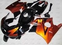 CBR600 F2 1992 Plastic Fairings CBR600F2 1991 1994 Orange Black Fairing CBR 600 F2 91 92 Abs Fairing