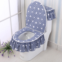 Hot Sale Toilet Cover Washer O style Toilet Seat Zipper Closestool Toilet Three piece Suit Washable Bathroom Accessories