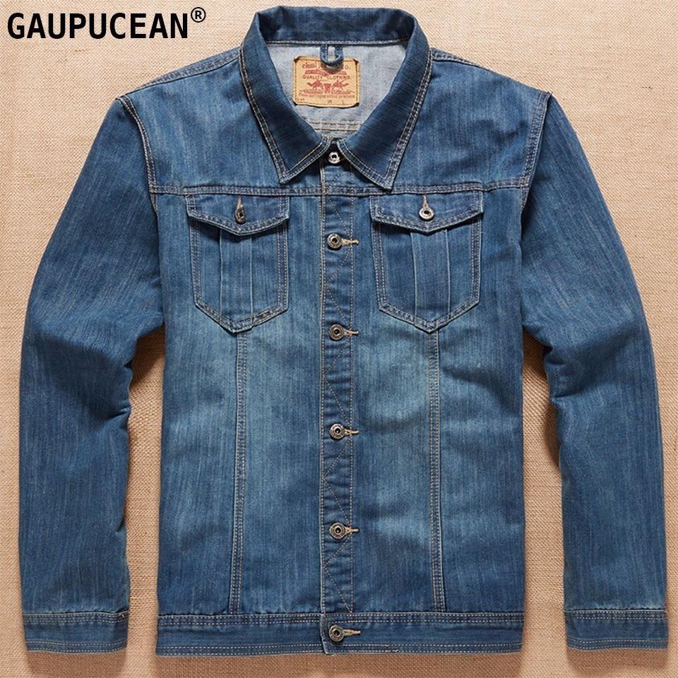 Asiatico Maschio Di Giacca Jean Cowboy Tasche Blue Denim Camicia 7xl Uomo  Da L Poliestere 13 ... 8ea0df8f835