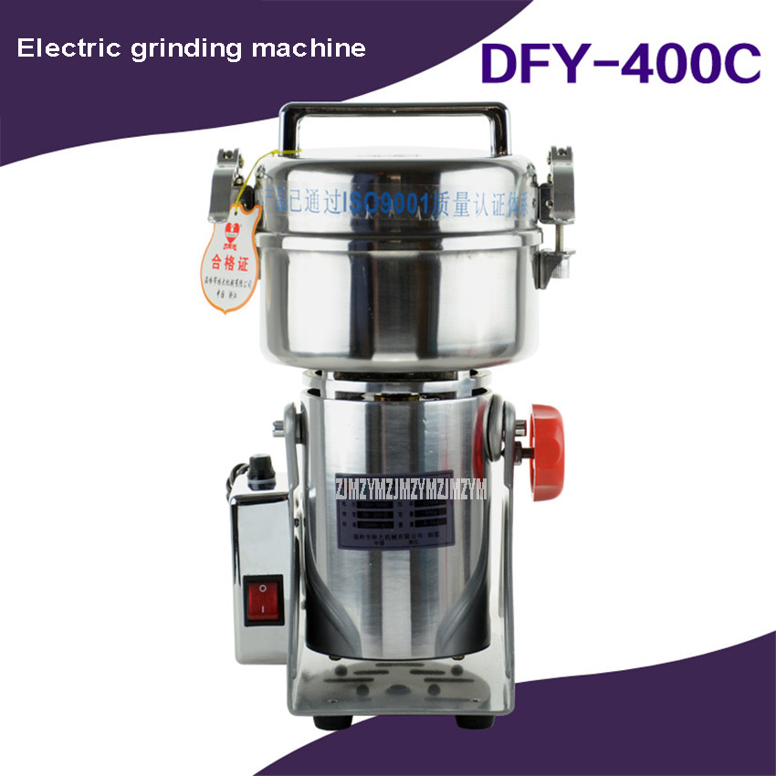 Home Use 400g Electric Grinding Machine 1200W Portable Small Dry Food Herb Herbal Medicine Grinder Machine Automatic DFY 400C|Food Processors|Home Appliances - title=