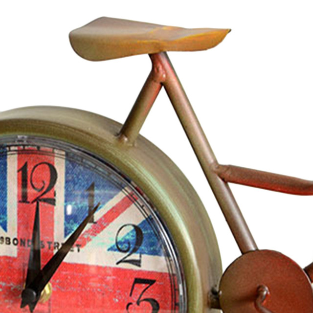 New Popular Creatively Designed Retro Gold European Style Bicycle Ride Clock Popular New