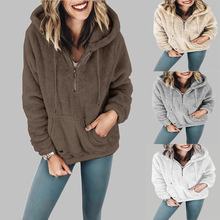 Large size Women Hoodies Autumn Winter Warm Casual Long Sleeve Pocket Womens