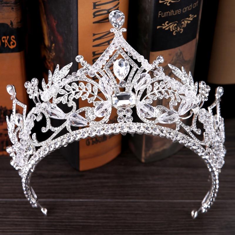 Ivory Lace Crystal Wedding Bridal Bridemaid Tiara Headwear Hair Jewelry