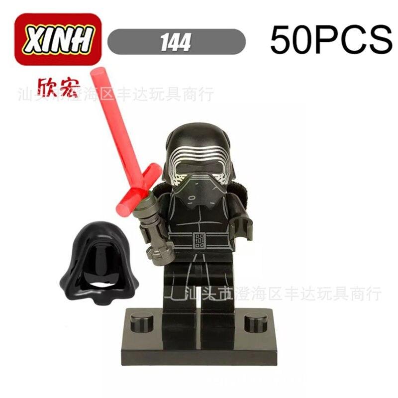 Пого подарки оптовые XH144 50 шт. Kylo Ren Пробуждение силы Star Wars Строительные блоки кирпичи игрушки Совместимость Legoe