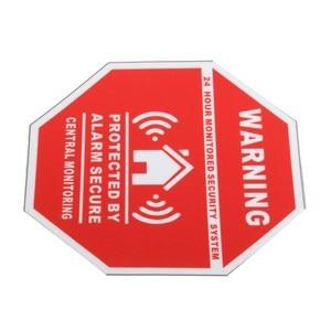 Image 4 - 5 sztuk Home House Alarm naklejki bezpieczeństwa/naklejki znaki dla Windows i drzwi nowość