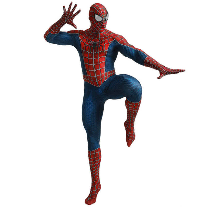 Iron Spiderman Cosplay Costume Outfit Skin Suit Bodysuit Fancy Dress+Mask Kids