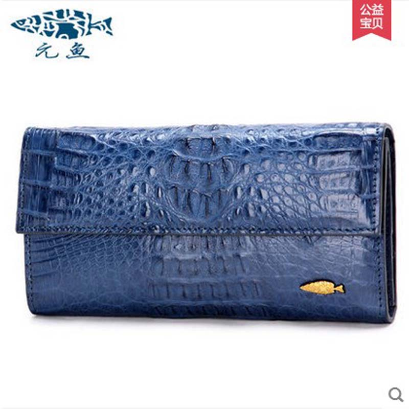 yuanyu real 2018 new hot free shipping Crocodile women clutches long wallet crocodile skin  female wallet  women purse yuanyu new crocodile wallet alligatorreal leather women bag real crocodile leather women purse women clutches