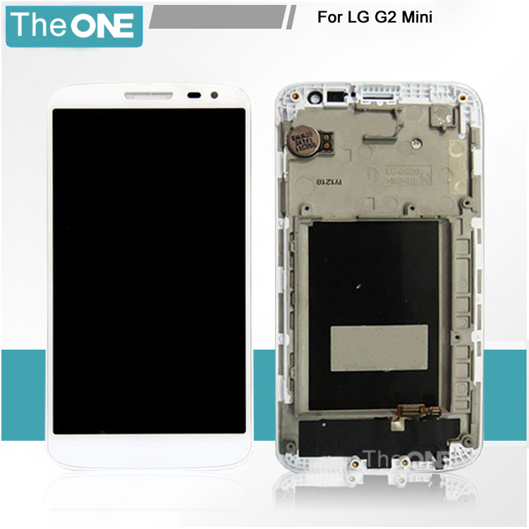 ФОТО OEM LCD Screen For LG G2 mini D620 D618 With Touch display Digitizer Assembly replacement with frame black/white
