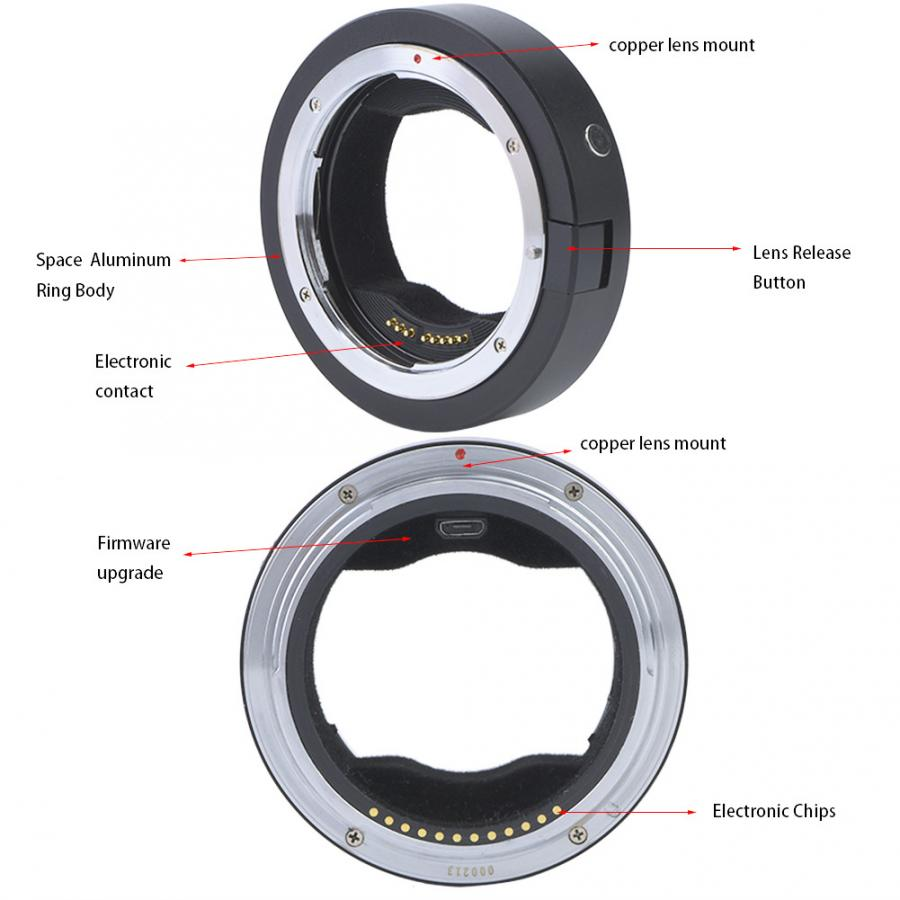 Precision Copper Adapter Ring Full Manual Control LR-MA Lens Adapter for Leica LR Lens to Fit for Sony for Minolta AF MA Camera Vbestlife Lens Adapter Ring for Leica