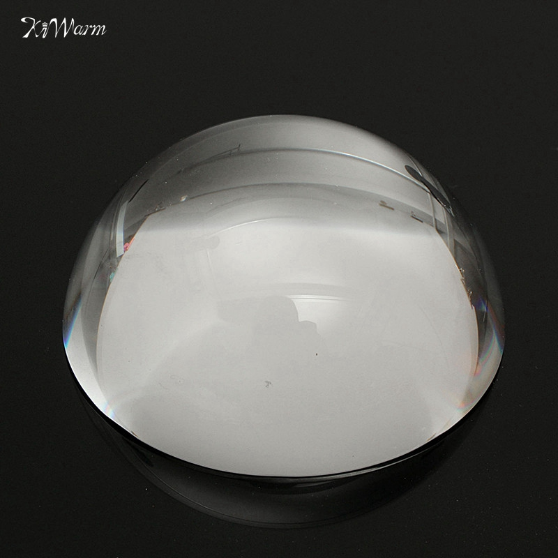 KiWarm 60mm Magnifying Crystal Dome Magnifier Reading Aid Paperweight Semi Crystal Ball 60mm Decorative Figurines MiniatureKiWarm 60mm Magnifying Crystal Dome Magnifier Reading Aid Paperweight Semi Crystal Ball 60mm Decorative Figurines Miniature